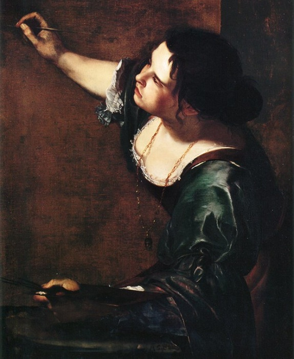 Автопортрет как аллегория живописи. (1630). Автор: Артемизия Джентилески.