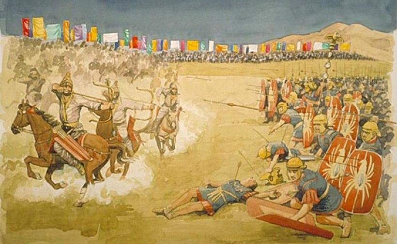 Сражение китайцев с римлянами